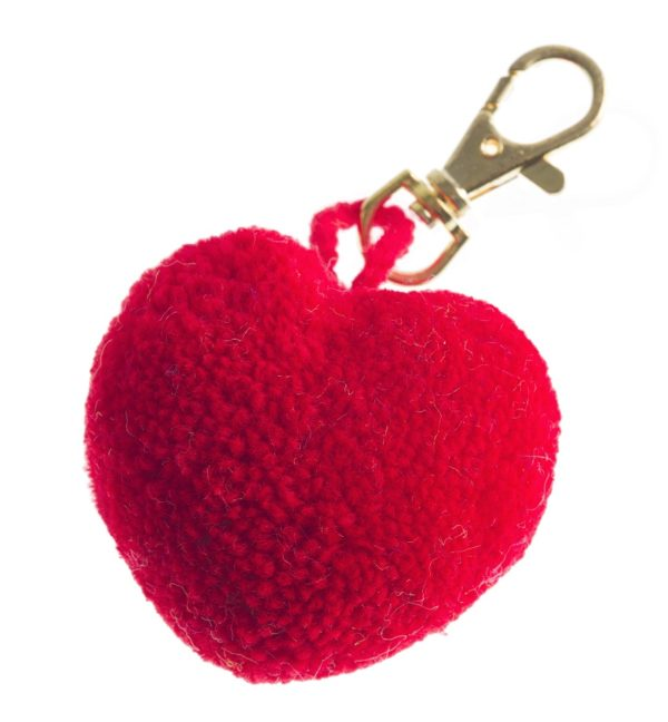 Pom Pom Heart Clip 1
