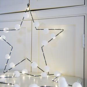 Star Pom Pom Light with LED pin lights