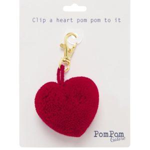 Red Heart Pom Pom Clip