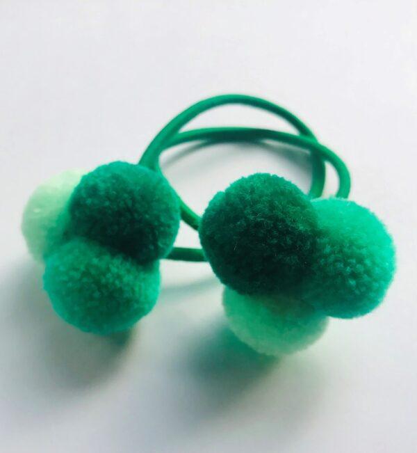 Mini Pom Pom Hair Bobble - Trio 1