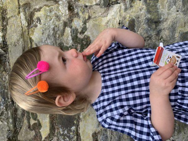 Pom Pom Hair Slides - Matt Glitter 1
