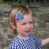 Pom Pom Hair Slides - Matt Glitter 7