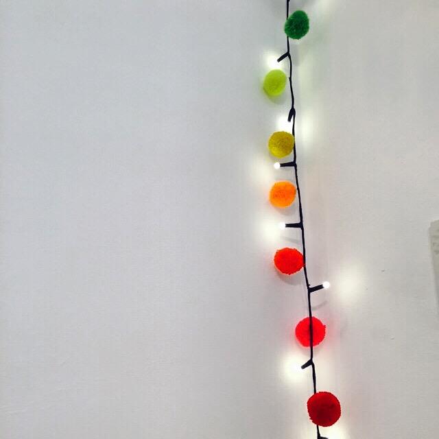Rainbow Pom Pom Fairy Light Chains