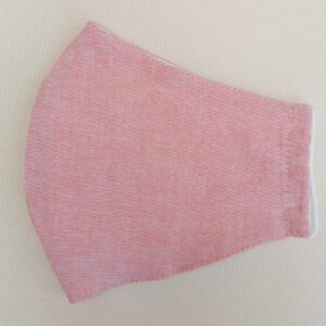 Pastel Pink Cotton Face Mask