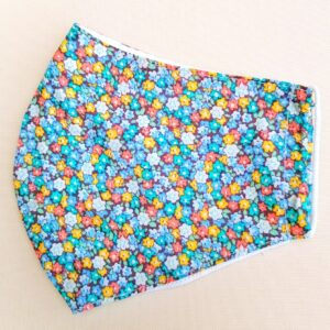 Teal & Turquoise Pattern Cotton Face Mask