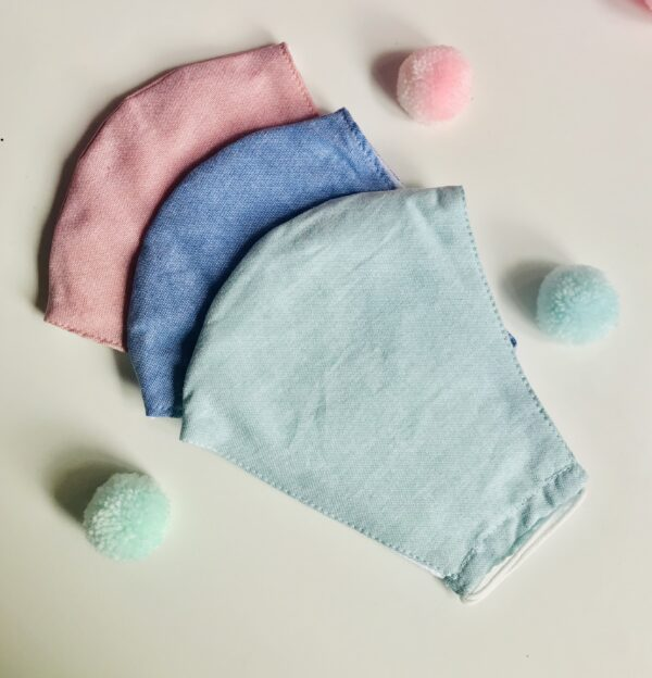 Plain Cotton Face Masks 1