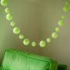 Neon Lime Pom Pom Garland 4