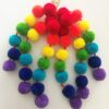 Rainbow Poms with small clips 1